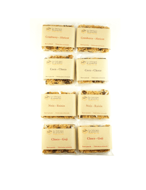 Pack gourmand 8 barres granola bio