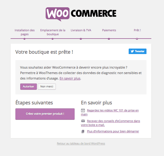 creer site woocommerce assistant pret