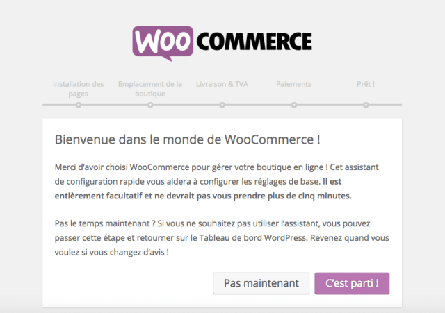 creer site woocommerce assistant