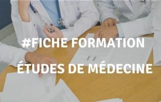 Fiche de formation : études de médecine