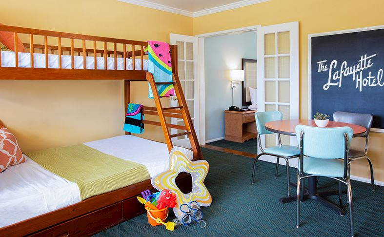 hotels with kitchens in san diego diy outdoor on a budget hotel rooms bungalows the lafayette swim club suze suite