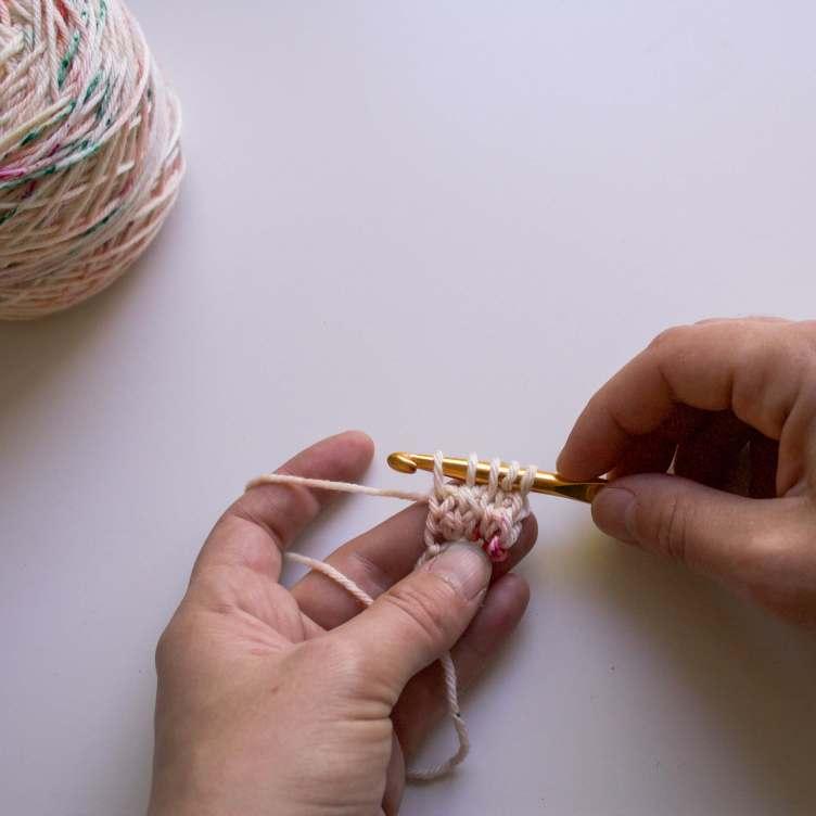 5 boucles sur le crochet