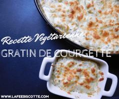 recette de gratin à la courgette