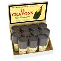 24 minis crayons de couleur