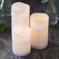 Set de 3 bougies leds en cire blanche TENNA