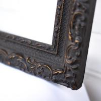 Cadre Noir ancien bois et stuc PAULINE