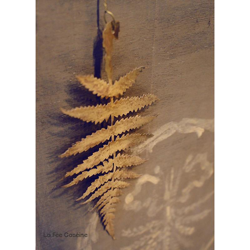 Feuille de fougère en laiton 20cm