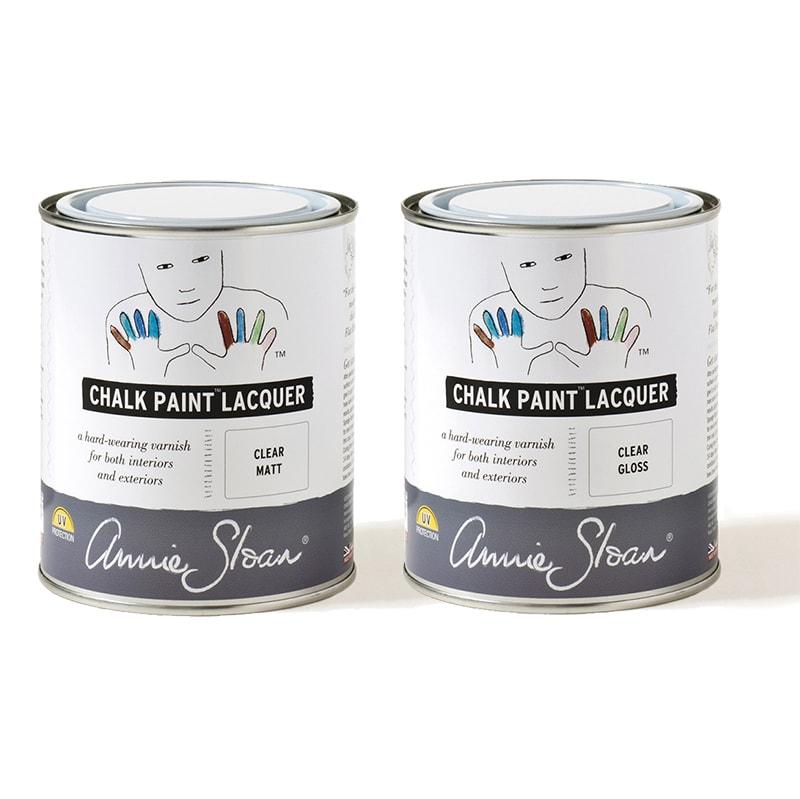 les lacquers mat et brillant d'annie sloan Chalk paint