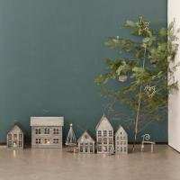 Maison de ville photophore en zinc