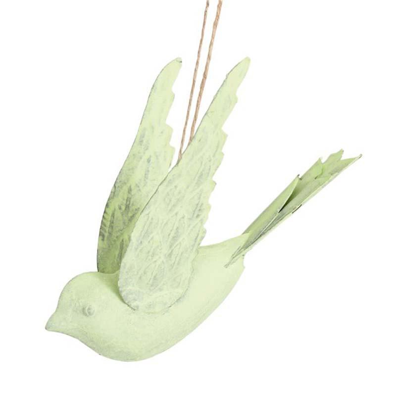 Oiseau en métal vert pâle BIRD