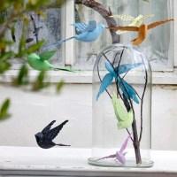 Oiseau en métal bleu BIRD