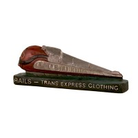Plâtre publicitaire vintage RAILS trans express