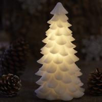 sapin lumineux en cire pour décoration de noel