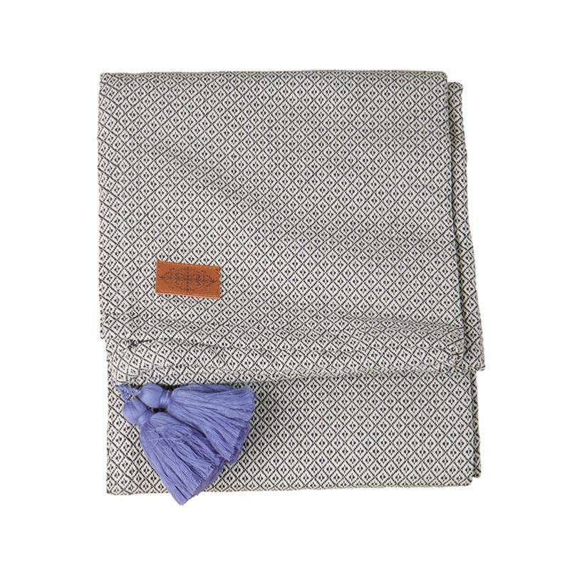 Housse de coussin gris clair GUSTAV