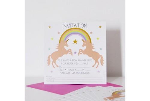 invitation anniversaire licorne