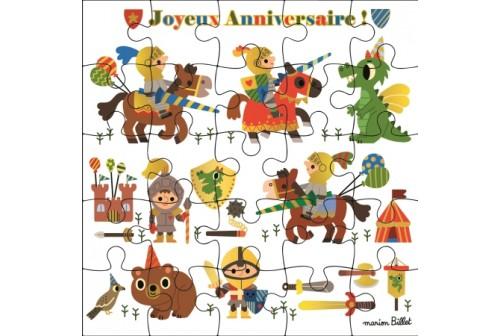 carte puzzle petits chevaliers