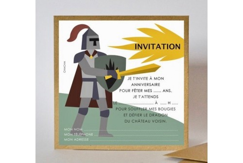 invitation chevalier chacha