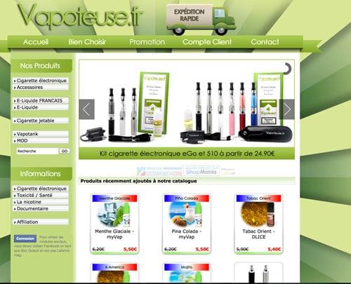 Cigarette electronique pas cher sur Vapoteuse.fr