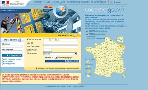 Cadastre.gouv.fr pour accéder gratuitement au cadastre des communes