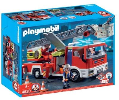 Playmobil 4820 Camion de pompiers grande échelle pas cher