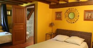Chambre jaune du gîte