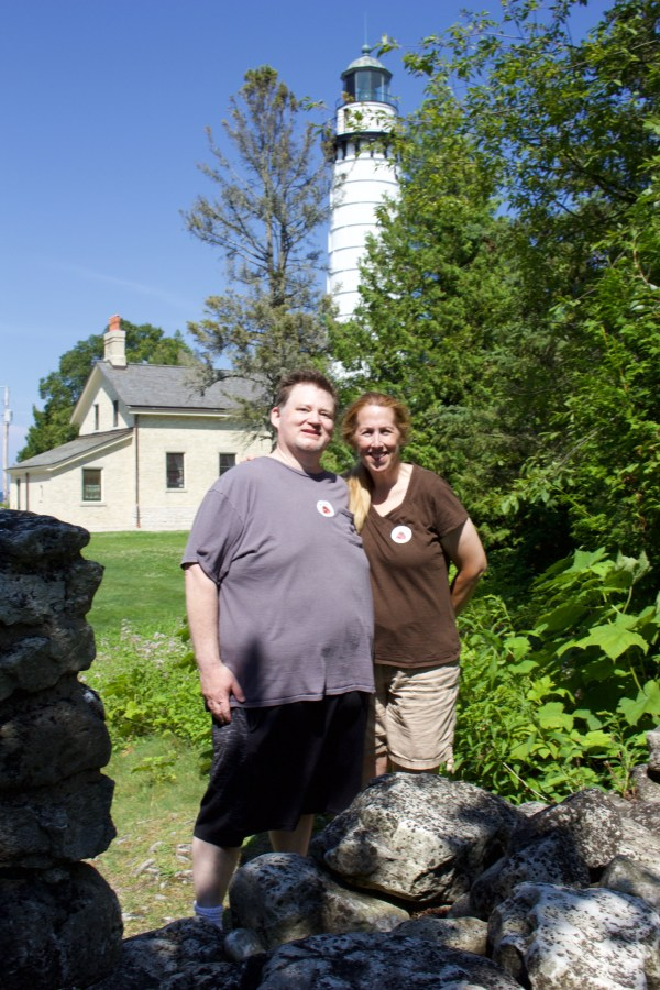 Dave, Christine, and the Cana Island Lighthouse