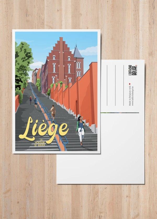 Carte Postale Belgique Liège La Montagne de Bueren