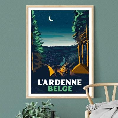 Affiche L'Ardenne Belge