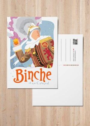 Carte postale binche et son carnaval