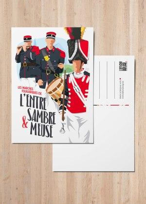 Carte postale Les Marches Folkloriques de l'Entre-Sambre-et-Meuse