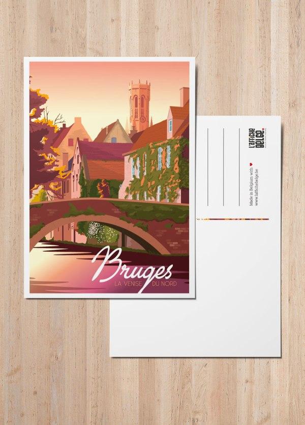 Carte postale - Bruges, La Venise du Nord