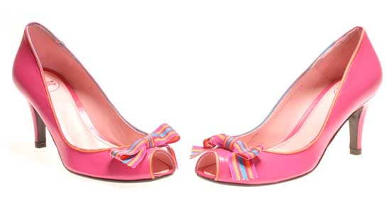 Chaussures de mariee rose Annabel Winship