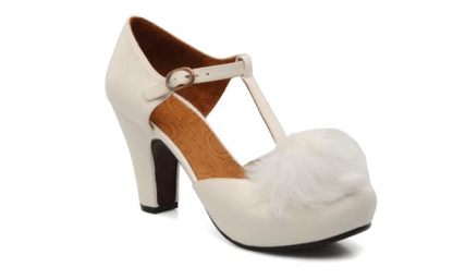 Chaussures de mariee blanche vintage chie mihara fiancee du panda