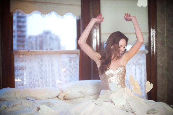 Robe de mariee Etsy sequins - La Fiancee du Panda Blog mariage 1