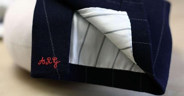 costume marie initiales brodees - La Fiancee du Panda Blog Mariage et Lifestyle