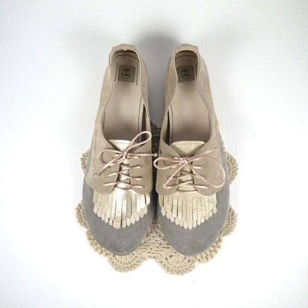 Derbies frange cuir glitter dore - Etsy shopping - La Fiancee du Panda blog mariage