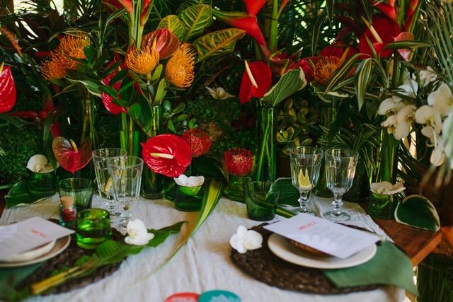 Un mariage th me tropical inspirations d co for Deco sejour tropical