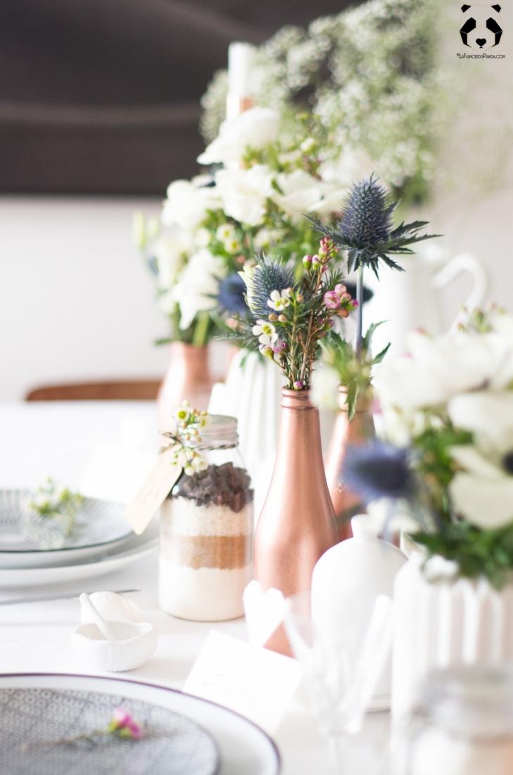Inspiration D Co Une D Co De Table De Mariage Cuivre Et Blanc