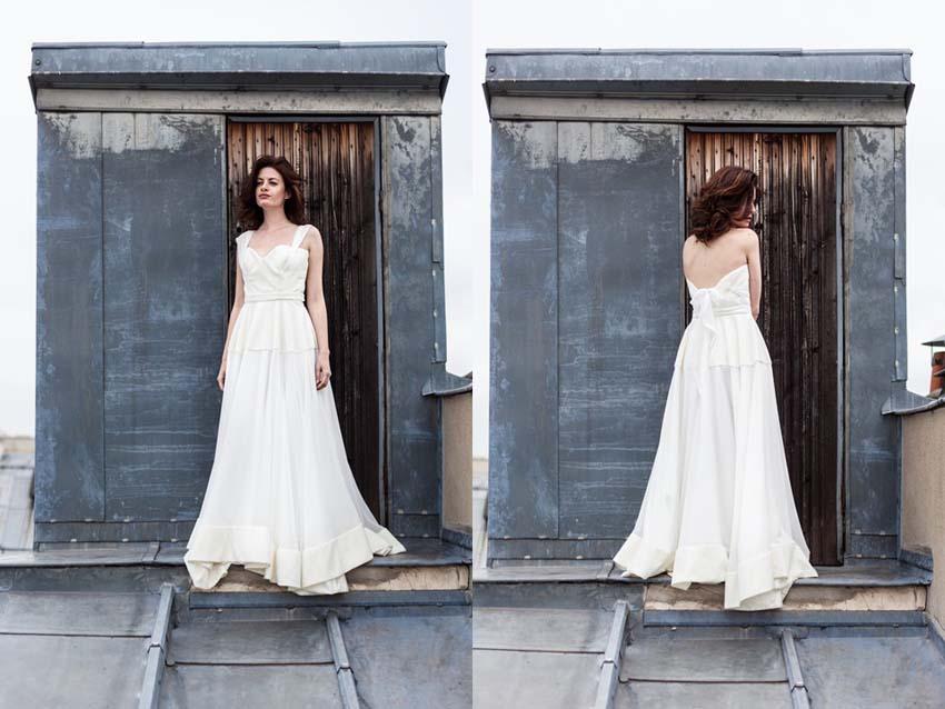 Robe de mariee dos nu bustier Marion Kenezi modele Joker et Alexandrine collection 2016 l Photos Gwel.fr l La Fiancee du Panda blog mariage