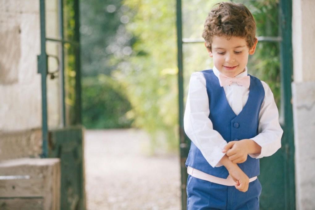 Costume enfant d'honneur bleu Les Petits Inclassables l Photographe Alex Tome l La Fiancee du Panda blog mariage