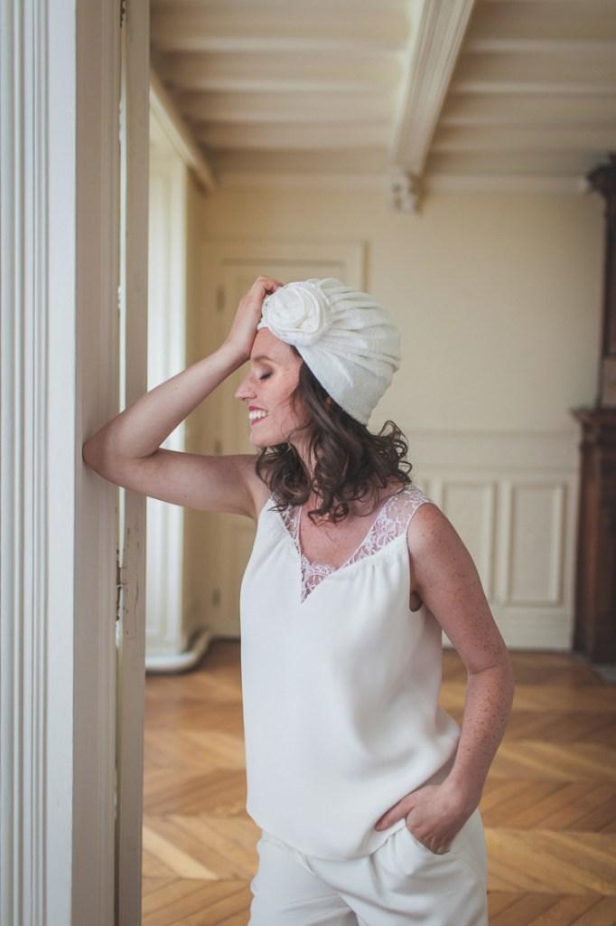 Mathilde Marie robe de mariee collection 2016 turban Clothilde Toussaint l La Fiancee du Panda blog mariage-