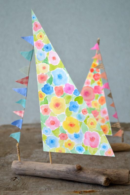 Come fare una barchetta a vela con i legnetti di mare