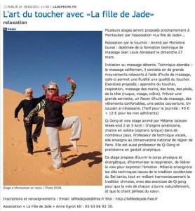 Article de la Dépêche du Midi, mars 2011