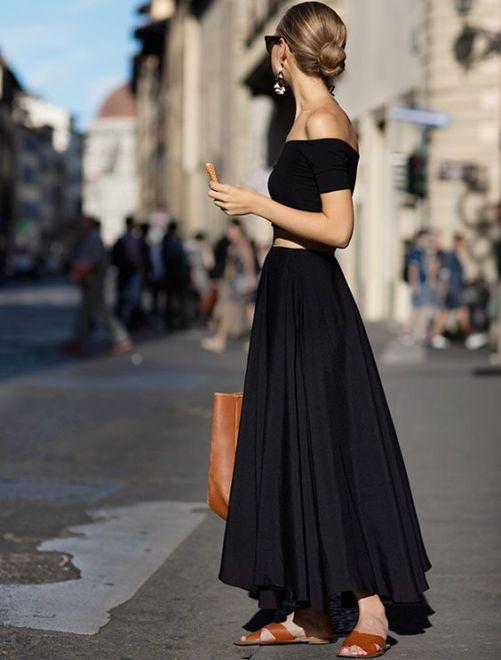 jupe longue noire -lafillementhealeau