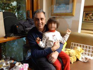 Emilio Vincioni con sua figlia