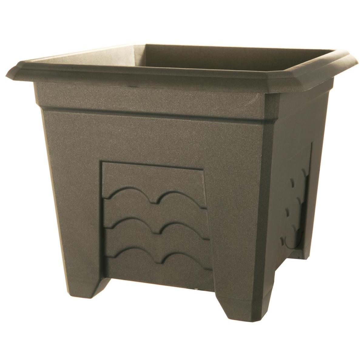 plastique gris pots cache pots