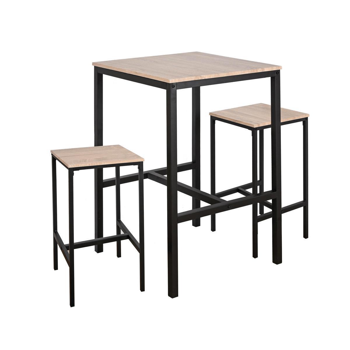 table haute 2 tabourets meubles de