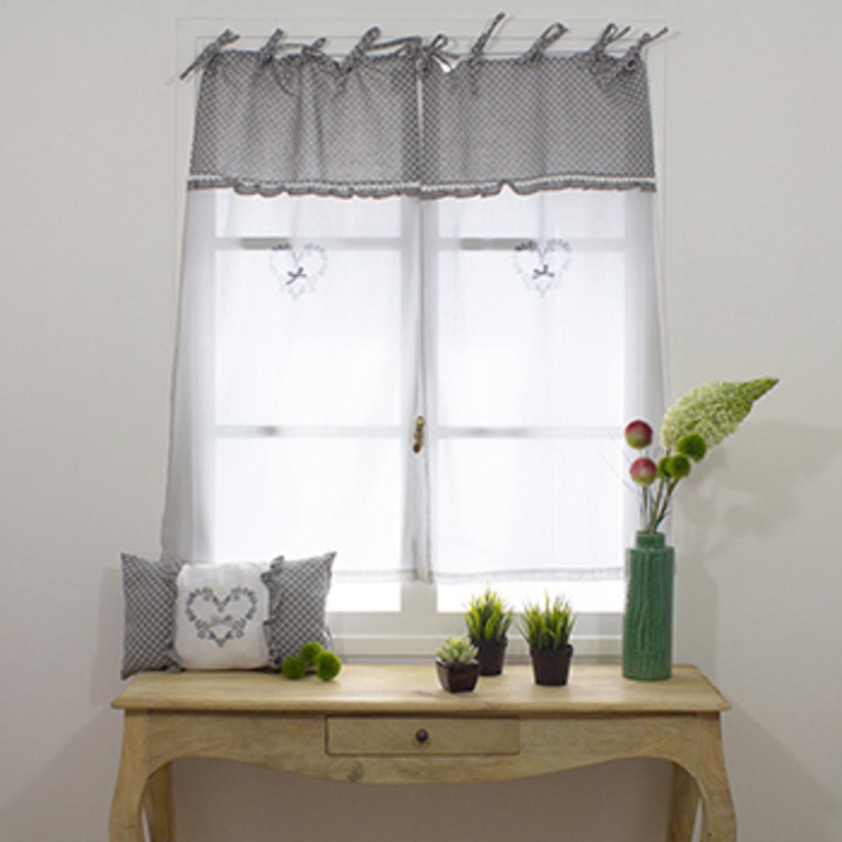 x 90 cm gris rideaux et voilages
