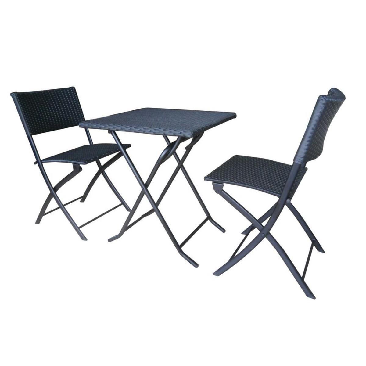 ensemble table et chaise balcon metal