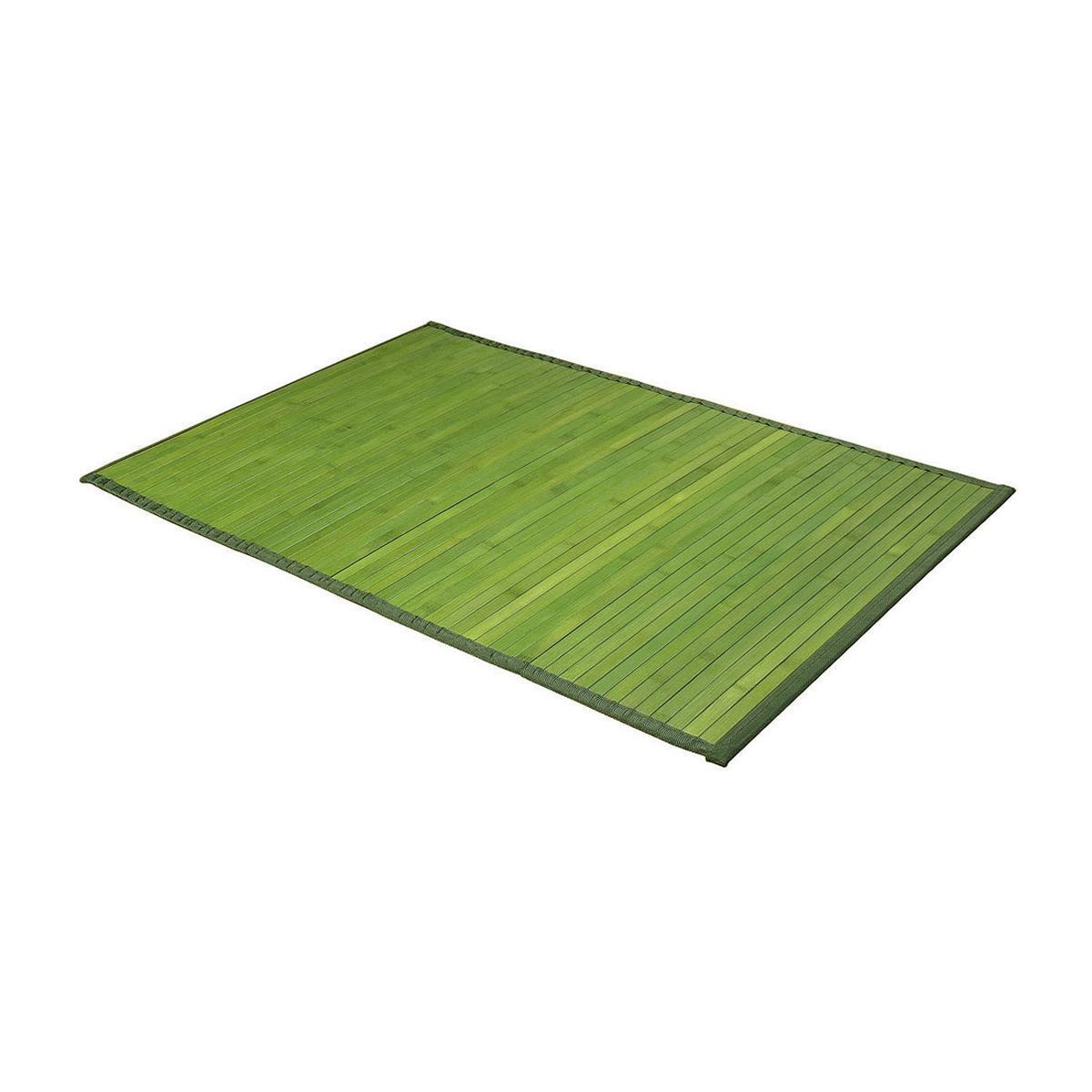 tapis bambou vert tapis de bain et